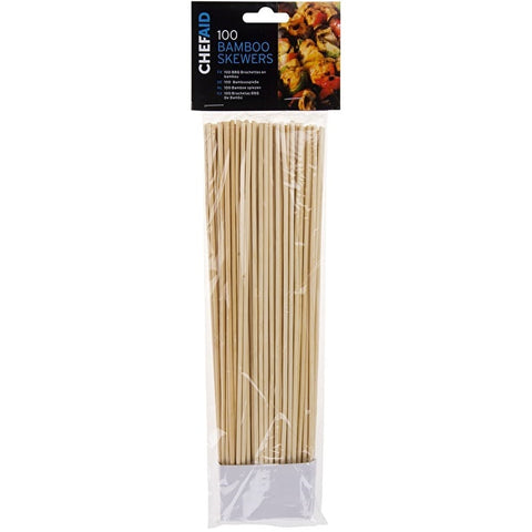 Chef Aid 100 25cm Bamboo Skewers