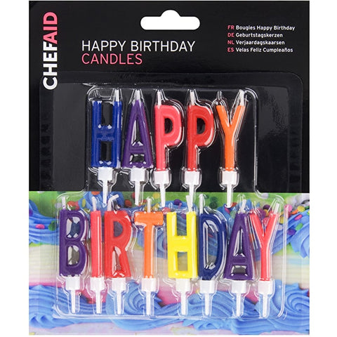Chef Aid Happy Birthday Candles Carded