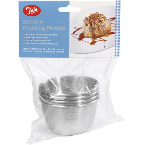 Tala Set Of 4 Pudding Moulds