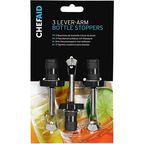 Chef Aid 3 Bottle Stoppers