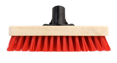 Elliotts FSC Wooden Deck Scrubbing Broom Head 23cm with Stiff Fibres & Bracket