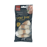 Pets Unlimited 196765 Chewy Bone with Chicken Small 5pc
