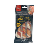 Pets Unlimited Tricolor Chewy Sticks With Chicken Medium 3 Pieces