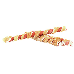 Pets Unlimited 196833 Tricolor Chewy Sticks with Chicken Large 3pc