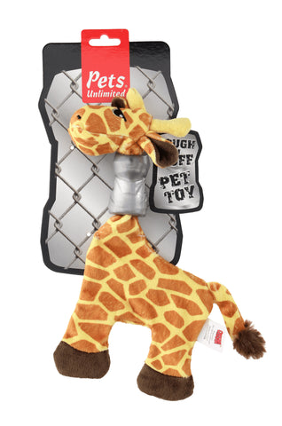Ruff and Tuff 202142 Plush and TPR Rubber Toy - Girafe