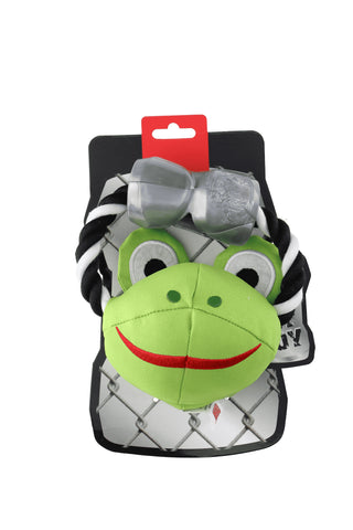Ruff and Tuff 202131 Canvas Rope & TPR Rubber toy - Frog