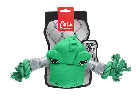 Ruff and Tuff 202135 Canvas Rope & TPR Rubber Toy - Crocodile Head
