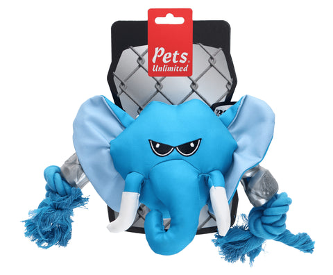 Ruff and Tuff 202134 Canvas  Rope & TPR Rubber Toy - Elephant Head