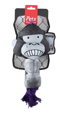 Ruff and Tuff 202137 Canvas Rope & TPR Rubber toy - Gorilla Head