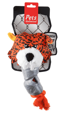 Ruff and Tuff 202138 Canvas Rope & TPR Rubber Toy - Tiger Head