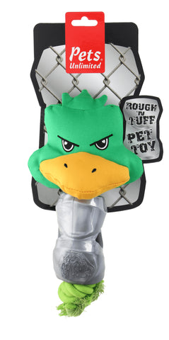 Ruff and Tuff 202139 Canvas Rope & TPR Rubber Toy -Duck Head