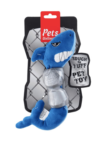 Ruff and Tuff 202144 Plush and TPR Rubber Toy - Shark