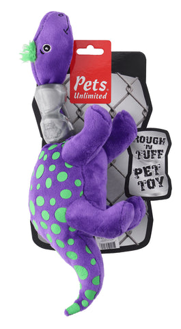 Ruff and Tuff 202146 Plush and TPR Rubber Toy - Dino