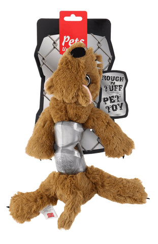 Ruff and Tuff 202147 Plush and TRP Rubber Toy -  Bear