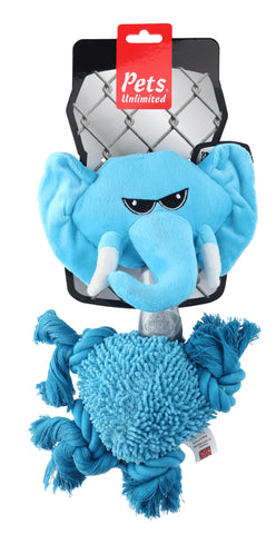 Ruff and Tuff 202141 Plush Rope and TPR Rubber Toy - Elephant