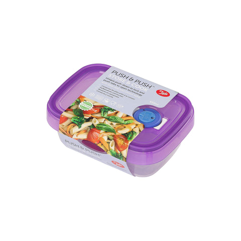 Tala Push & Push Food Storage Container with Date dial and steam Release 650ml