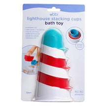 Load image into Gallery viewer, Ubbi Lighthouse Bath toy stacking cups