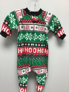 LOL Christmas Fleece Footed Sleeper Size 0-3 Months