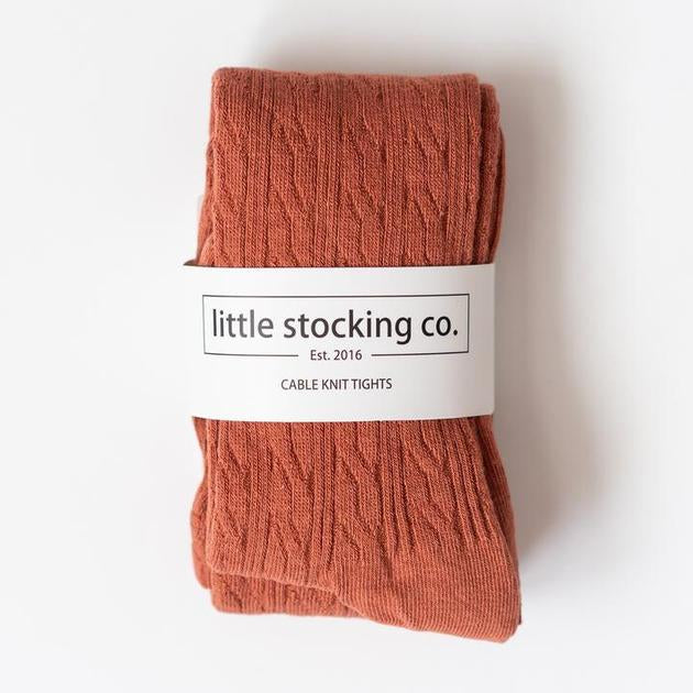 Cable Knit Tights 5yr - 6yr Rust