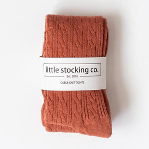 Cable Knit Tights 3yr - 4yr Rust