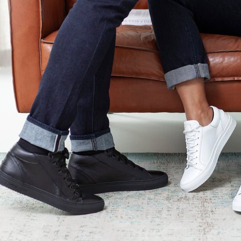 Rico Mid and Mario low refined sneakers