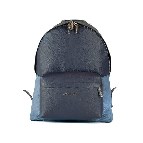 Astin Backpack - Navy Saffiano Leather