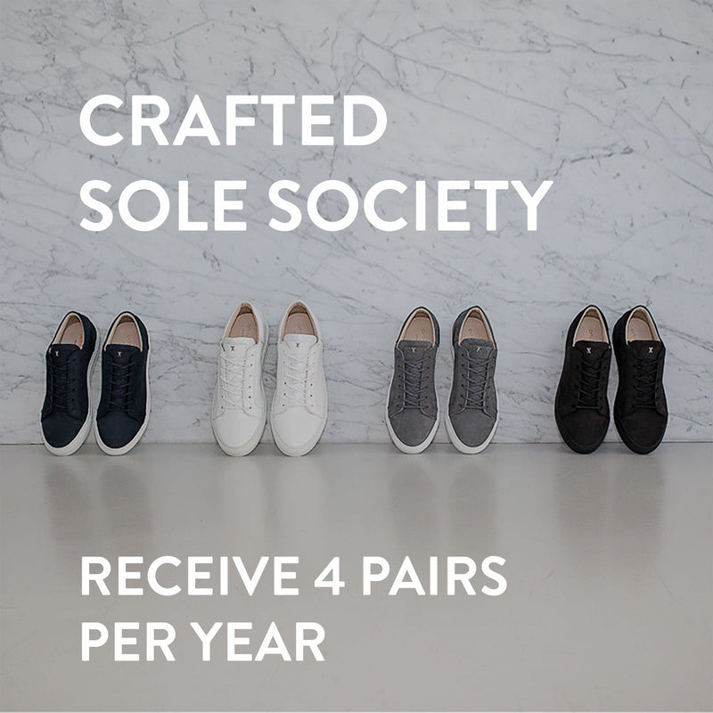 Crafted Sole Society - The luxury Shoe subscription - receive 4 pairs of shoes per year and save 40%