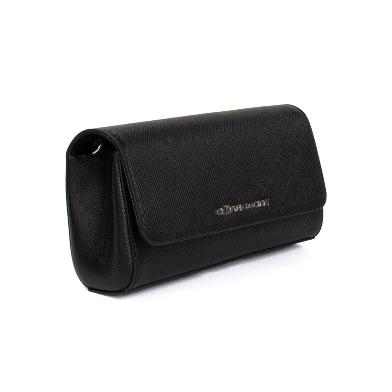 Simone Clutch Cross Body Black Saffiano Leather