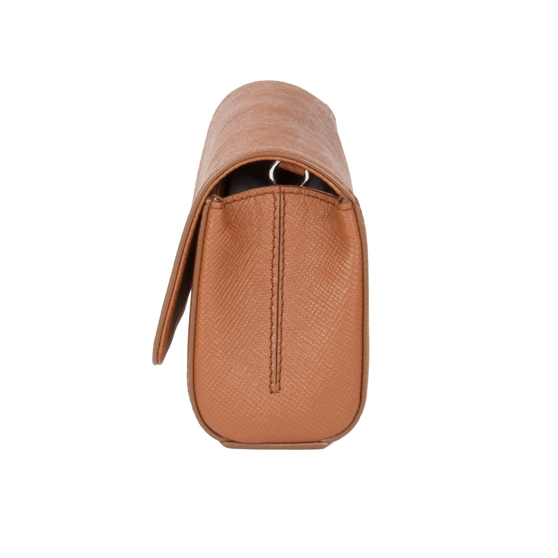 Simone Clutch/Cross Body - Camel Saffiano Leather