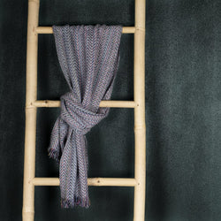 Albertina Scarf - Grey Multi 100% Cashmere