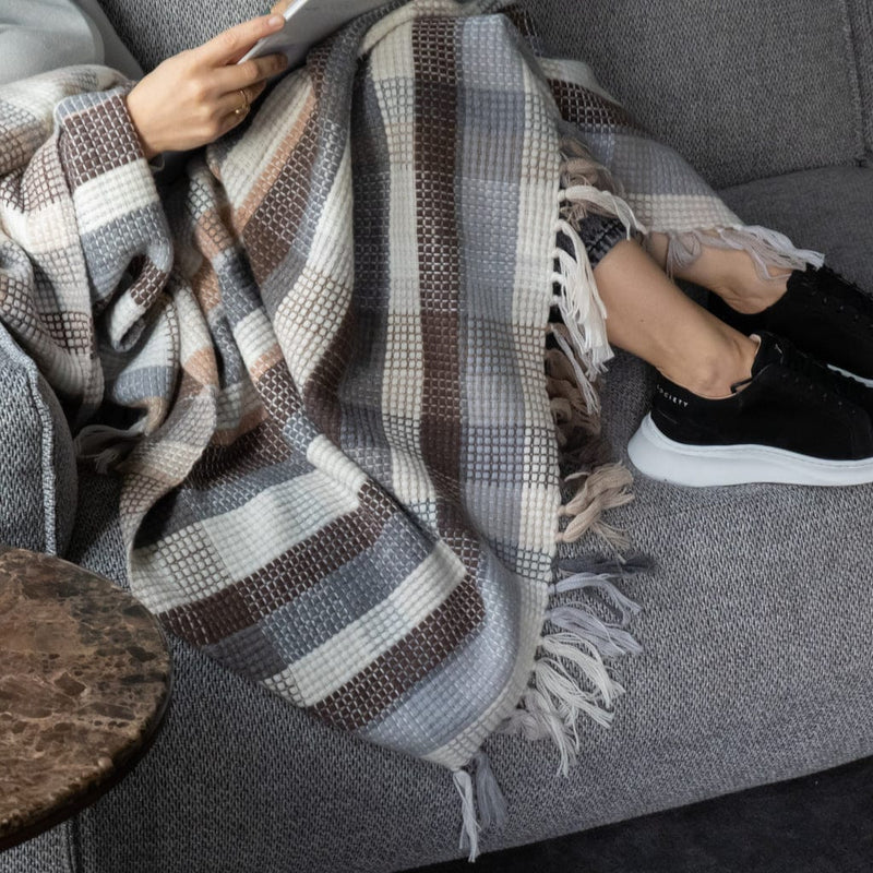Massimo square Cashmere Throw