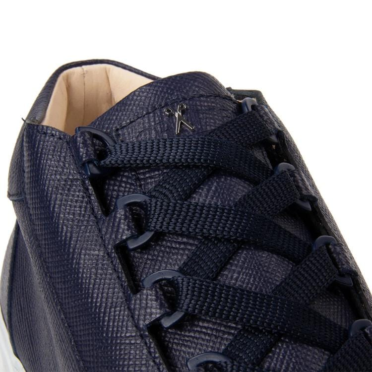 Rico Mid Sneaker Navy Saffiano Leather White Outsole Logodetail