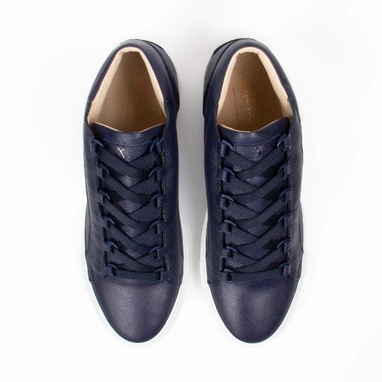Rico Mid Sneaker Navy Saffiano Leather White Outsole Aboveview