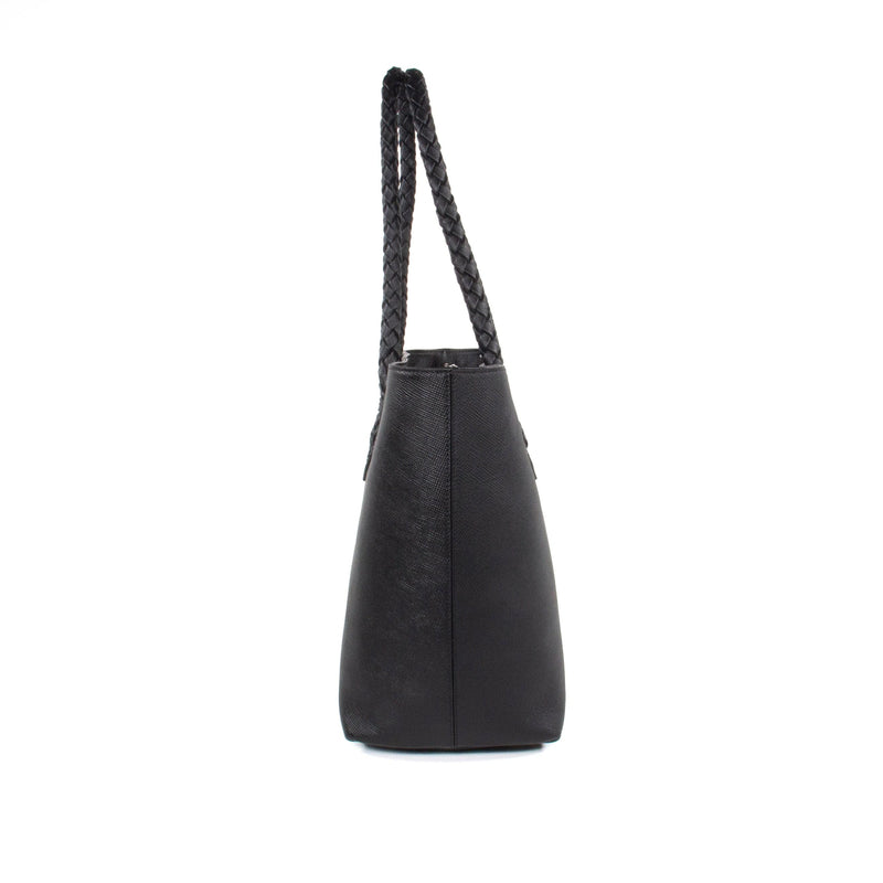 Luisa Tote - Black Saffiano Leather