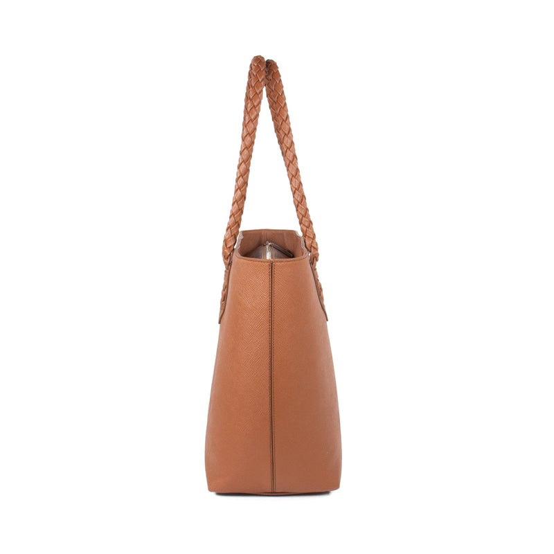 Luisa Tote Camel Sideview