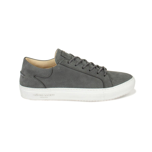 Mario Low Refined Sneaker - Dark Grey Nubuck / White Outsole