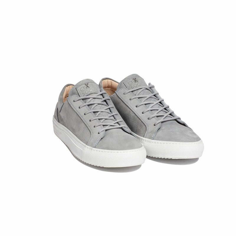 Mario Low Refined Sneaker - Light Grey Nubuck / White Outsole