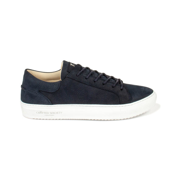 Mario Low Refined Sneaker - Navy Nubuck / White Outsole