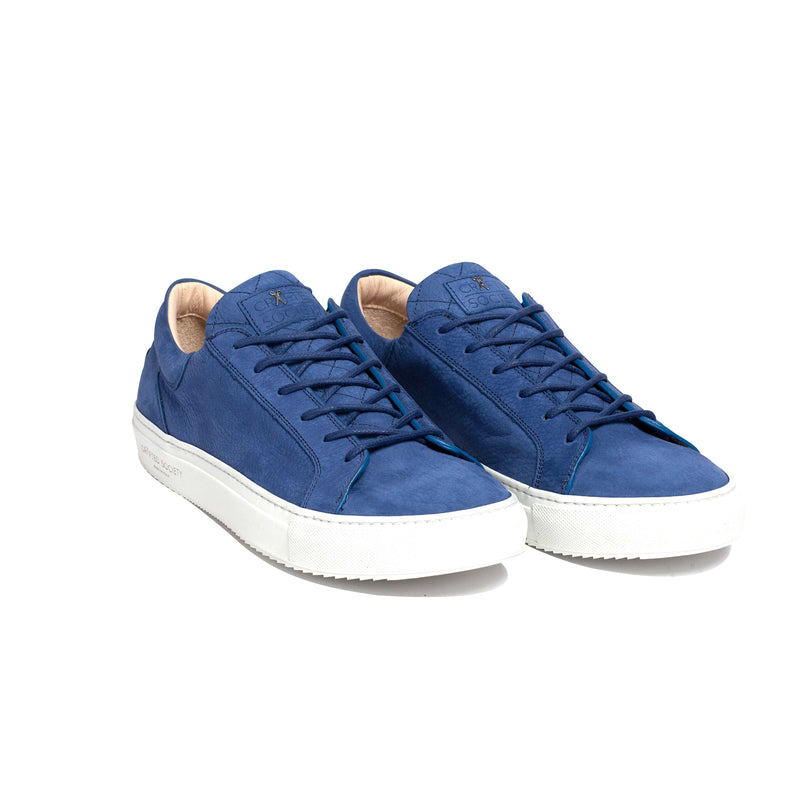 Mario Low Refined Sneaker - Royal Blue Nubuck / White Outsole