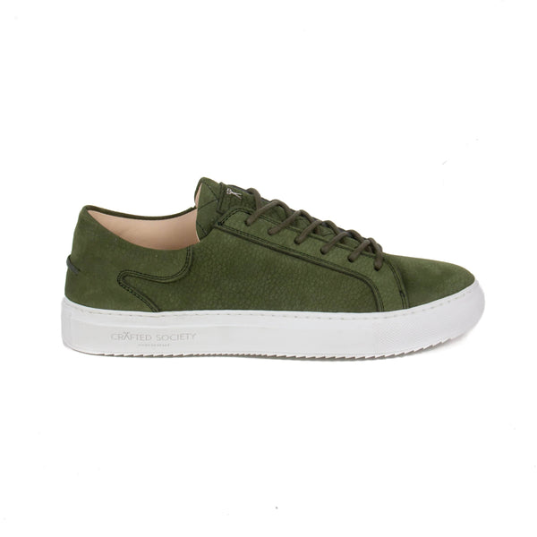 Mario Low Refined Sneaker - Olive Nubuck / White Rubber Outsole