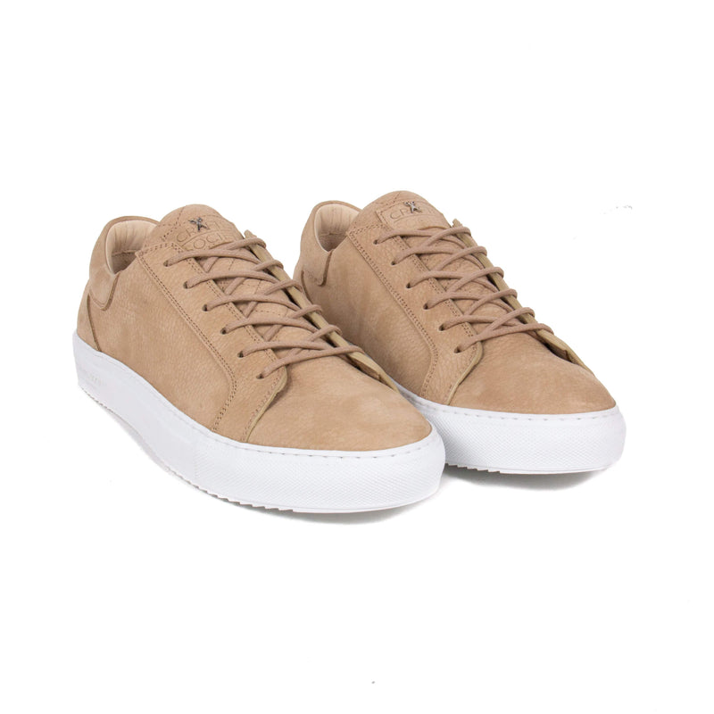 Mario Low Refined Sneaker - Sand Nubuck / White Rubber Outsole