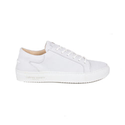 Mario Low Refined Sneaker - White Nubuck / White Rubber Outsole