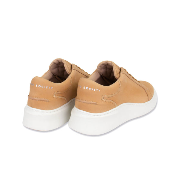 Matteo Low Sneaker - All Tan Nubuck calf Leather / White Outsole