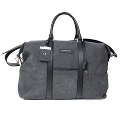 Nando Weekender - Anthracite Canvas & Black Saffiano Leather
