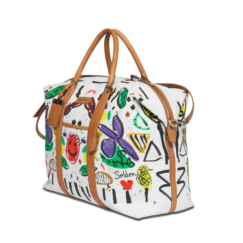 Nando Weekender Selden Art Canvas & Vachetta Leather sideview