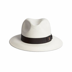 Panama Hat - White Toquilla / Black Band