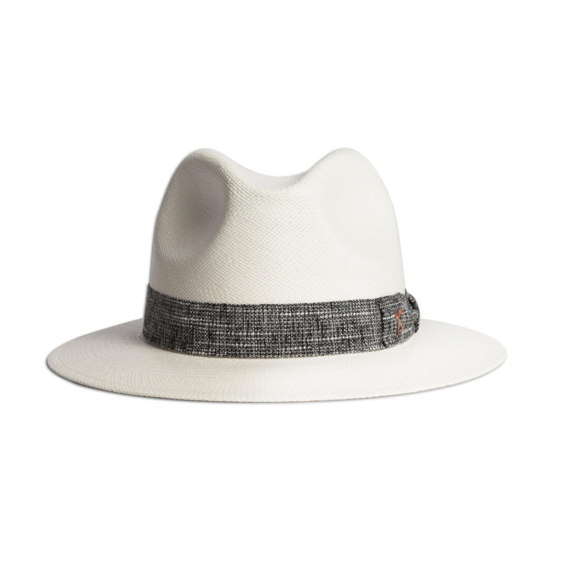 Panama Hat - White Toquilla / Black Melange Band