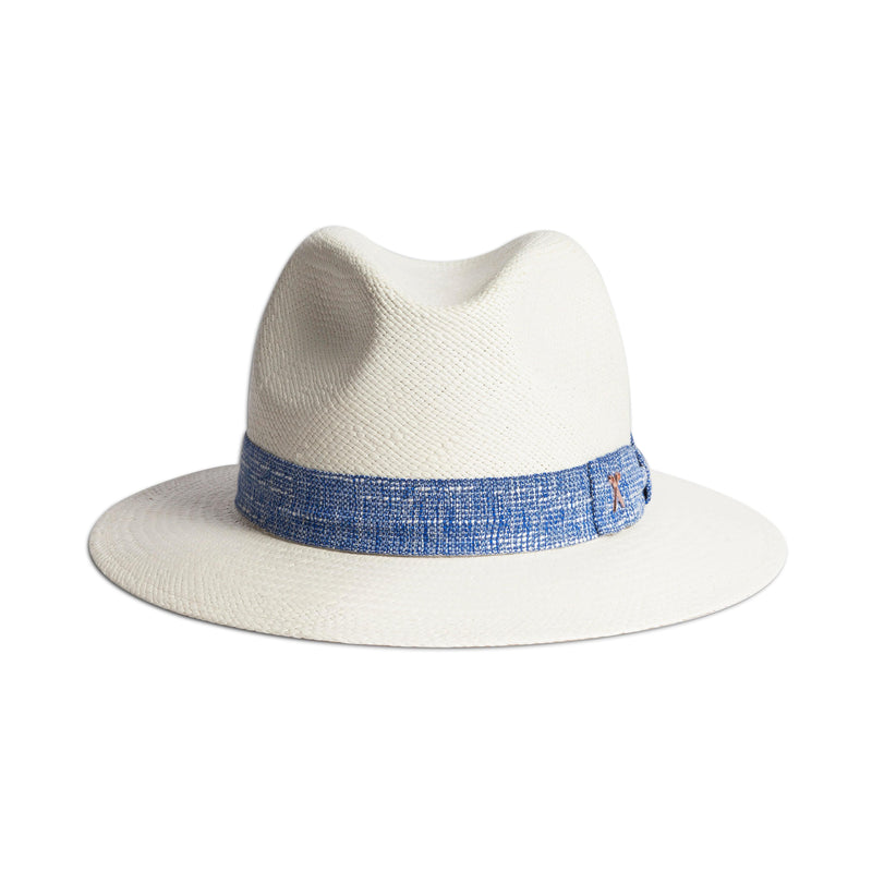 Panama Hat - White Toquilla / Blue Band