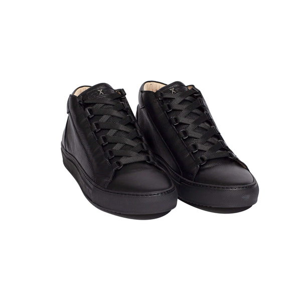 Rico Mid - Black Saffiano Leather / Black Outsole