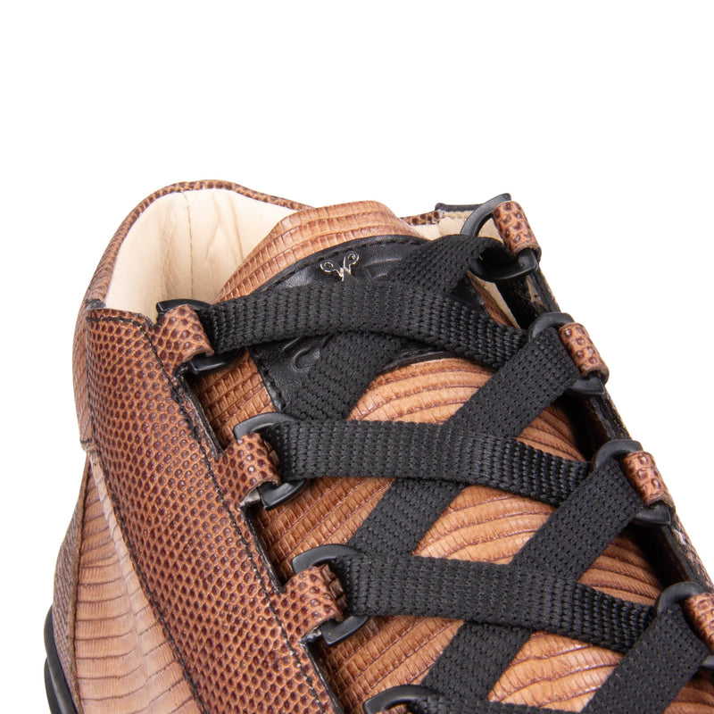 Rico Mid Sneaker Brown Stingray effect leather Black Outsole Logo Detail